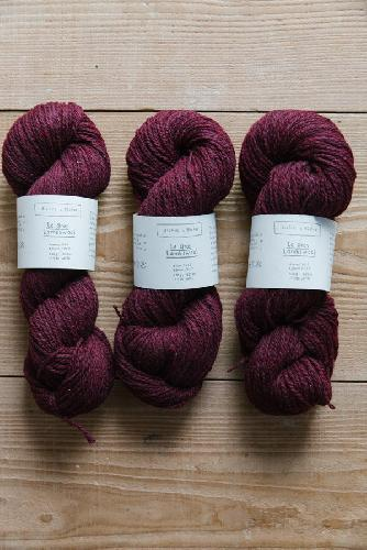 Biches et Buches Le Gros Lambswool Garn Burgundy Grey
