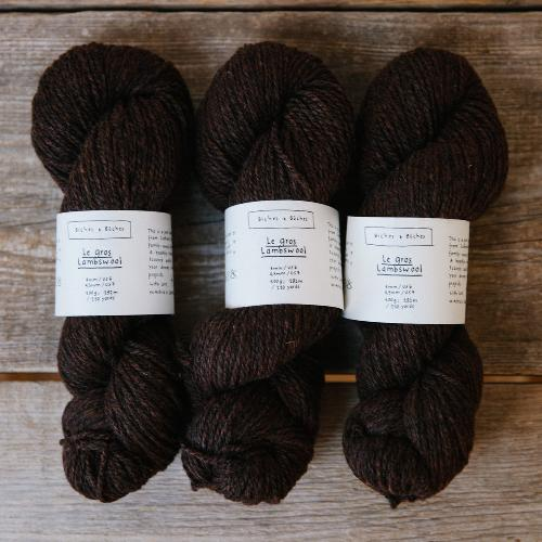 Biches et Buches Le Gros Lambswool Yarn Dark Brown