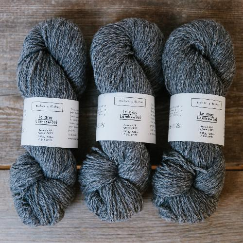 Biches et Buches Le Gros Lambswool Yarn Dark Grey