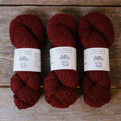 Biches et Buches Le Gros Lambswool Yarn Dark Red