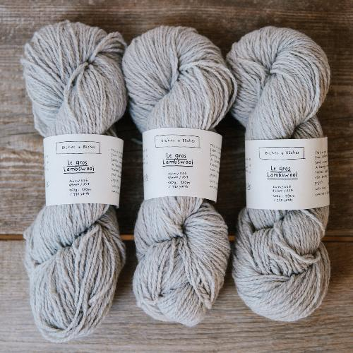 Biches et Buches Le Gros Lambswool Yarn Grey Beige