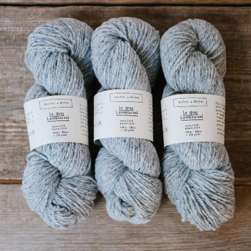Biches et Buches Le Gros Lambswool Yarn Light Grey