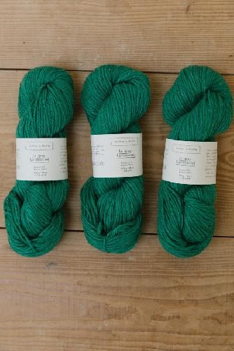 Biches et Buches Le Gros Lambswool Garn Medium Green