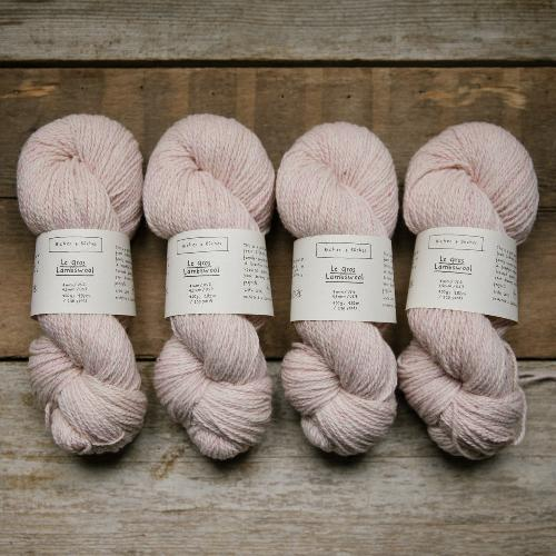 Biches et Buches Le Gros Lambswool Garn Very Light Pink