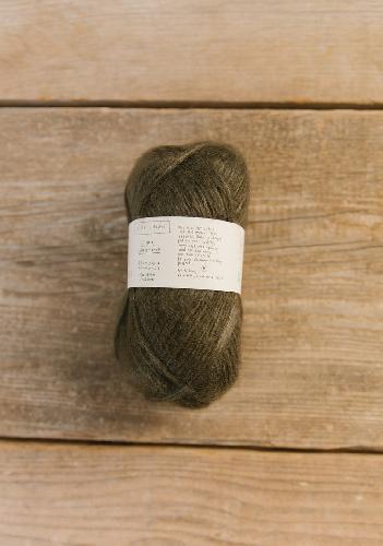 Biches et Buches Le Gros Silk et Mohair Garn Dark Khaki