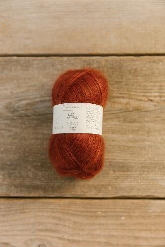 Biches et Buches Le Gros Silk et Mohair Yarn Dark Red