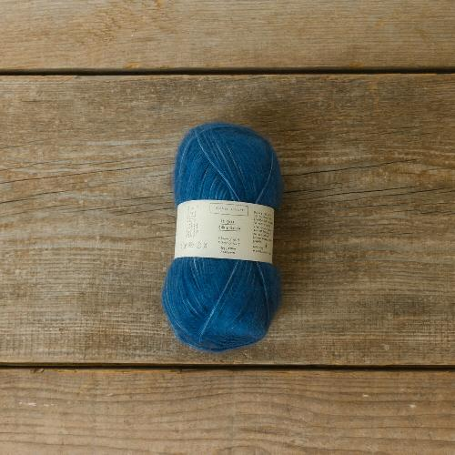 Biches et Buches Le Gros Silk et Mohair Yarn Medium Blue