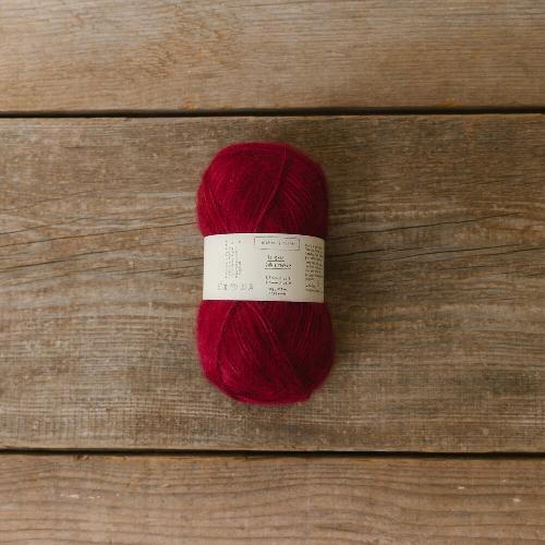 Biches et Buches Le Gros Silk et Mohair Yarn Red Burgundy