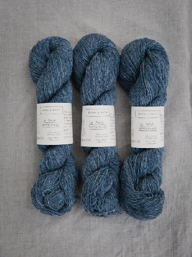 Biches et Buches Le Petit Lambswool Yarn Bluegrey