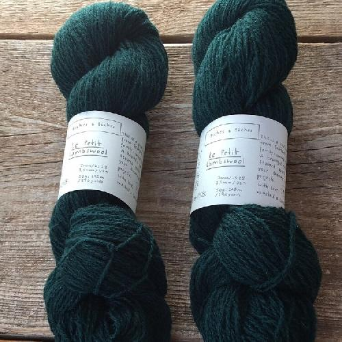 Biches et Buches Le Petit Lambswool Yarn Dark Green