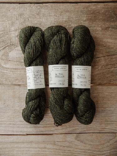 Biches et Buches Le Petit Lambswool Garn Darkgreengrey