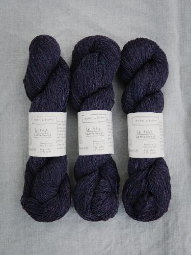 Biches et Buches Le Petit Lambswool Garn Darkvioletblue