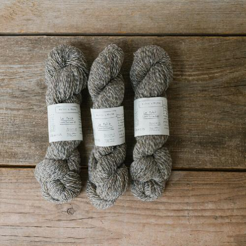 Biches et Buches Le Petit Lambswool Yarn Grey Melange