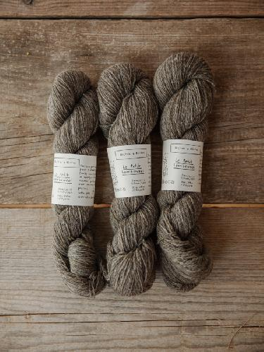 Biches et Buches Le Petit Lambswool Yarn Greybrown