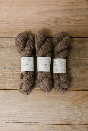 Biches et Buches Le Petit Lambswool Yarn Light Brown