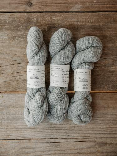 Biches et Buches Le Petit Lambswool Garn Light Grey
