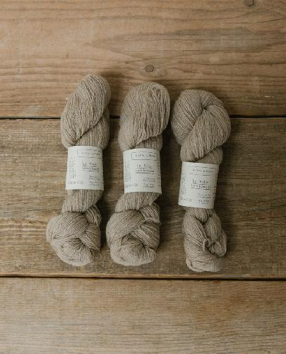 Biches et Buches Le Petit Lambswool Garn Medium Grey Beige