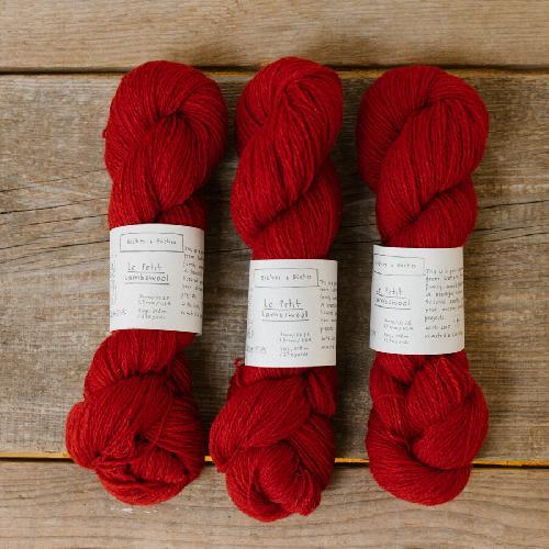 Biches et Buches Le Petit Lambswool Garn Medium Red