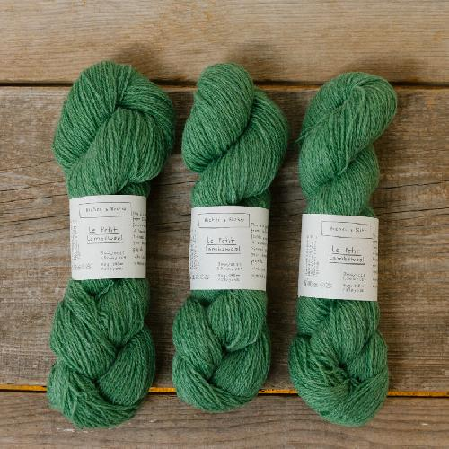 Biches et Buches Le Petit Lambswool Yarn Spring Green