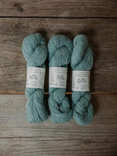 Biches et Buches Le Petit Lambswool Yarn Turquoise