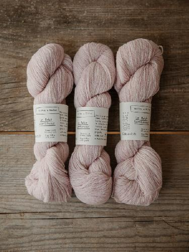 Biches et Buches Le Petit Lambswool Garn Verylightpink