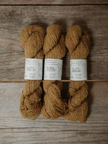 Biches et Buches Le Petit Lambswool Yarn Yellowmustard