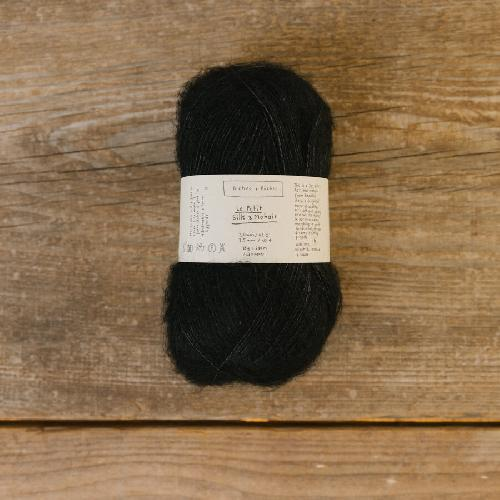 Biches et Buches Le Petit Silk et Mohair Yarn Black