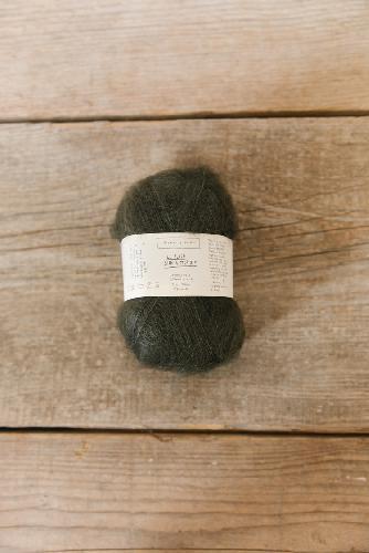 Biches et Buches Le Petit Silk et Mohair Garn Dark Bluegreen