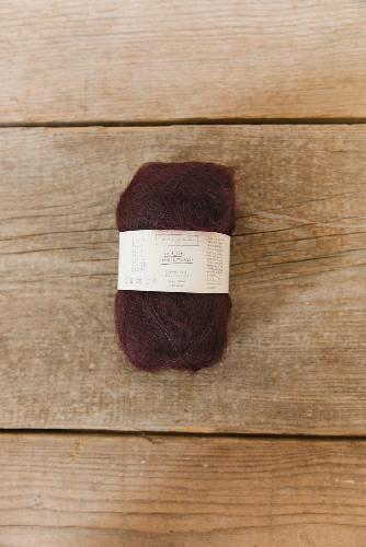 Biches et Buches Le Petit Silk et Mohair Yarn DarkBurgundy Grey