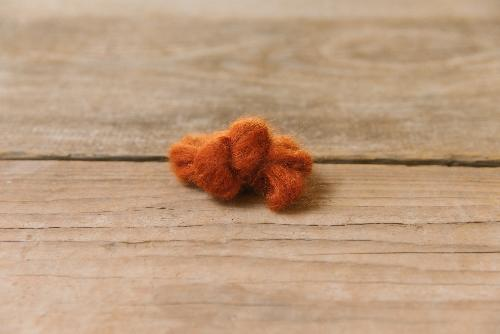 Biches et Buches Le Petit Silk et Mohair Yarn Dark Orange Grey