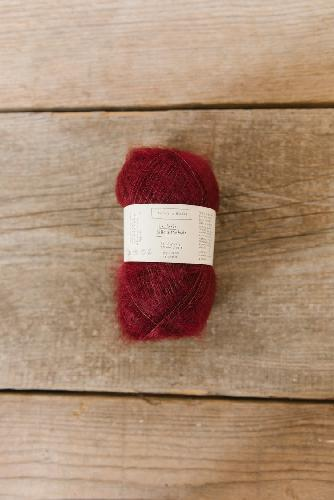 Biches et Buches Le Petit Silk et Mohair Yarn Dark Red