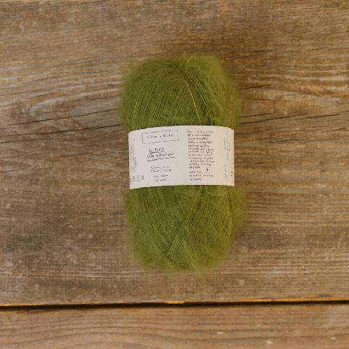 Biches et Buches Le Petit Silk et Mohair Yarn Medium Green Grey