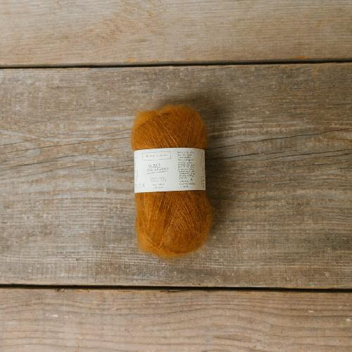 Biches et Buches Le Petit Silk et Mohair Yarn Soft Orange Brown