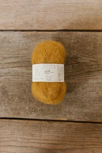 Biches et Buches Le Petit Silk et Mohair Yarn Yellow Mustard