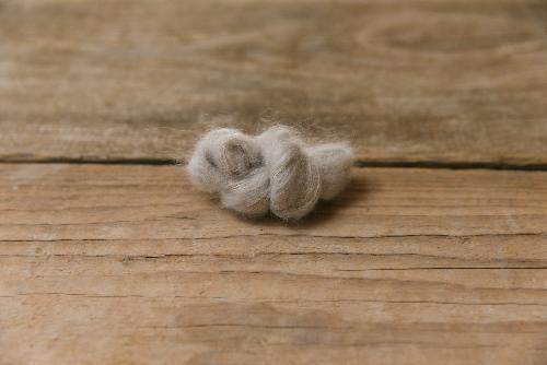 Biches et Buches Le Petit Silk et Mohair Yarn Grey Beige