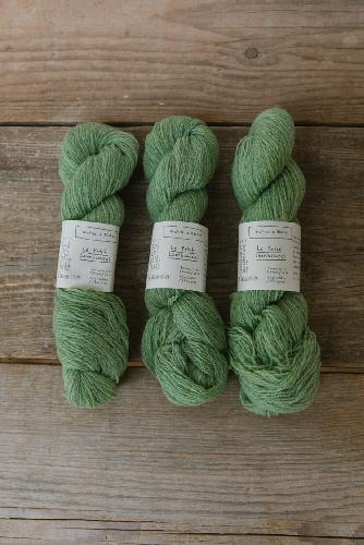 Biches et Buches Le Petit Lambswool Yarn Light Green