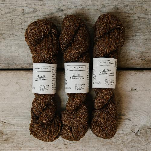Biches et Buches Le Silk et Lambswool Garn Orange Brown