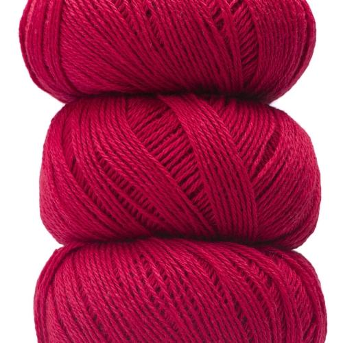 Geilsk Bomuld og Uld Yarn Bright red C 31