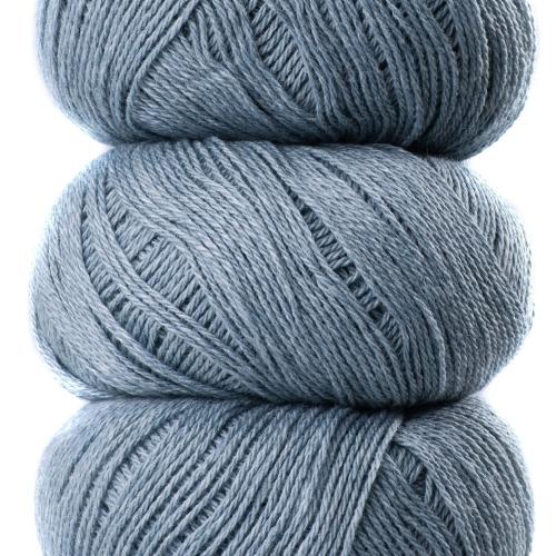 Geilsk Bomuld og Uld Yarn Grey blue C 25