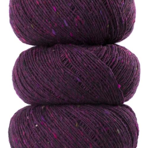 Geilsk Tweed Garn Aubergine T23