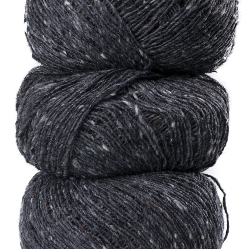 Geilsk Tweed Garn Dark Grey T2