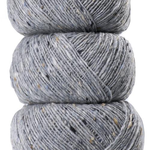 Geilsk Tweed Garn Light Grey T1