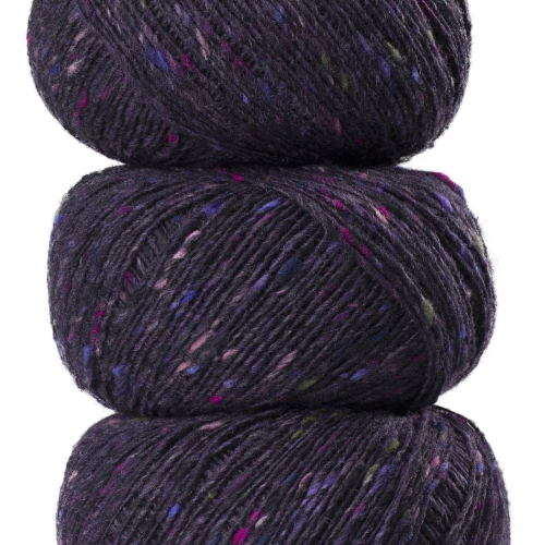 Geilsk Tweed Garn Purple T19
