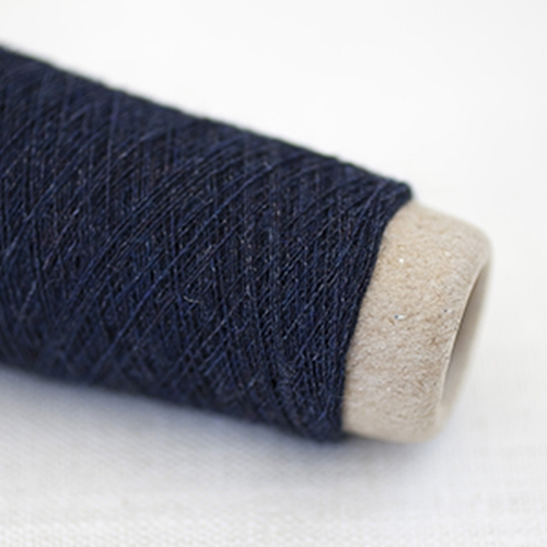 Habu Wool Stainless Steel Garn Navy 1