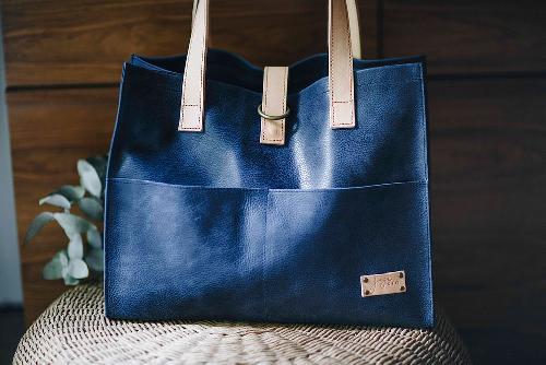 Joji & Co. Box Tote Bags Blue