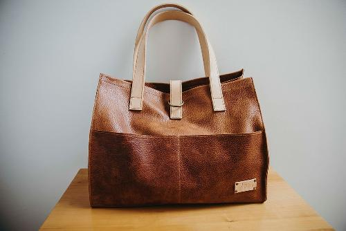 Joji & Co. Box Tote Projektbeutel Brown