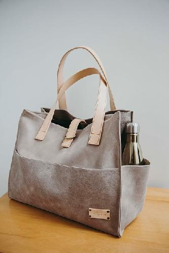 Joji & Co. Box Tote Bags Stone