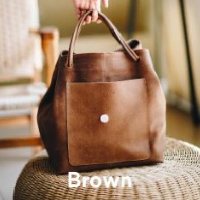 Joji & Co. XL HOBO Bag Projektbeutel Brown Waxed