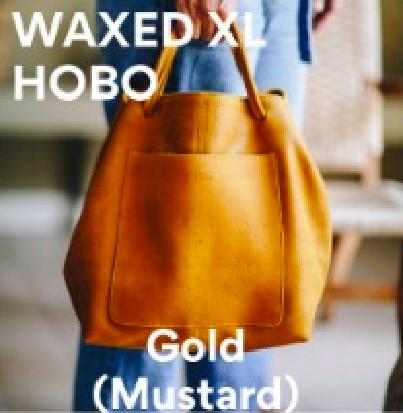 Joji & Co. XL HOBO Bag Projektbeutel Gold (Mustard) Waxed