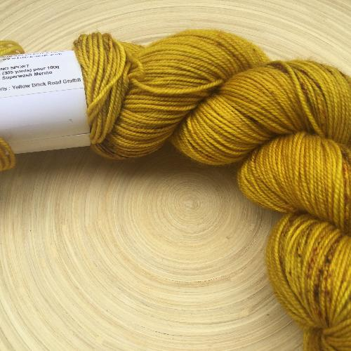 La Bien Aimee Merino Sport Yarn Yellow Brick Road Graffiti